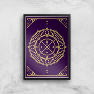 Decorative Wheel Of Fortune Giclée Art Print