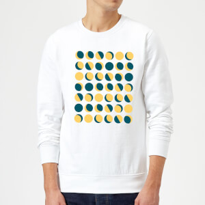 Moon Phase Pattern Sweatshirt - White
