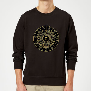 Decorative Planet Symbols Sweatshirt - Black