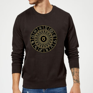 Decorative Horoscope Symbols Sweatshirt - Black
