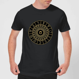 Decorative Planet Symbols Men's T-Shirt - Black