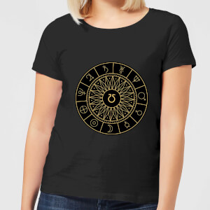 Decorative Planet Symbols Women's T-Shirt - Black