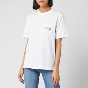 Victoria, Victoria Beckham Women's Pocket Logo T-Shirt - White