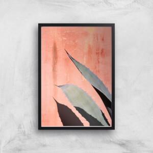 Peach Cactus Giclee Art Print