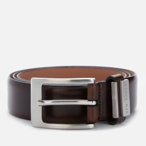Ted Baker Men's Bilding Branded Leather Belt - Chocolate