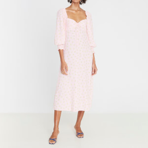 Faithfull the Brand Women's Mathilde Midi Dress - Pink