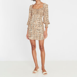 Faithfull the Brand Women's Ira Mini Dress - Wyldie Animal Print
