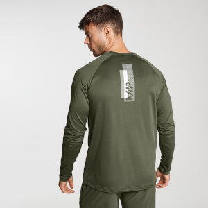 Miesten MP Printed Training Long Sleeved Top - Army Green