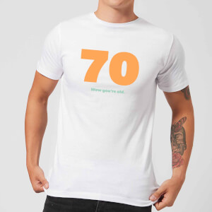 70 Wow You're Old. Men's T-Shirt - White