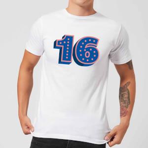 16 Dots Men's T-Shirt - White