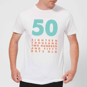 50 Eighteen Thousand Two Hundred And Fifty Days Old Men's T-Shirt - White