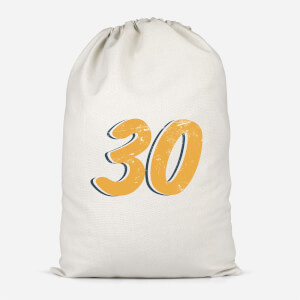 30 Distressed Cotton Storage Bag