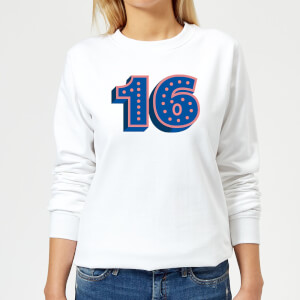 16 Dots Women's Sweatshirt - White