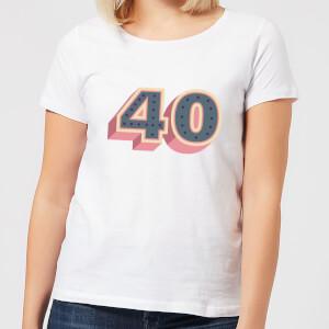 40 Dots Women's T-Shirt - White
