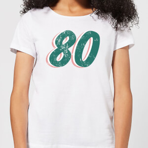 80 Distressed Women's T-Shirt - White