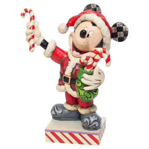 Disney Traditions Mickey Mouse with Candy Canes Figurine 15cm