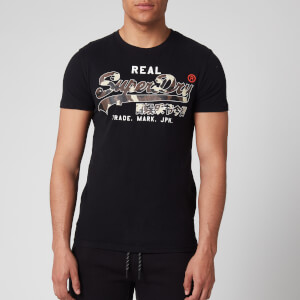 Superdry Men's Vintage Logo Camo T-Shirt - Black