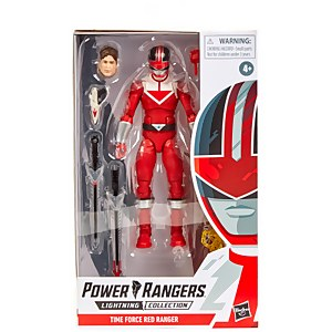 Power Rangers Lightning Collection Time Force - Figurine Ranger rouge
