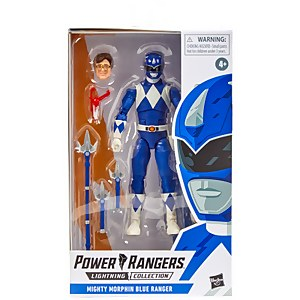 Power Rangers Lightning Collection Mighty Morphin Blauer Ranger Figur