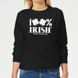 100% Irish* Women's Sweatshirt - Black
