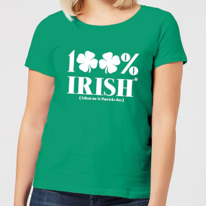 100% Irish* Women's T-Shirt - Kelly Green