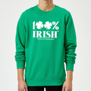 100% Irish* Sweatshirt - Kelly Green