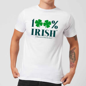 100% Irish* Men's T-Shirt - White