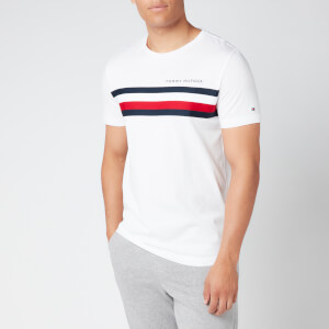 Tommy Hilfiger Men's Global Stripe T-Shirt - White