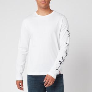 Tommy Hilfiger Men's Signature Long Sleeve T-Shirt - White