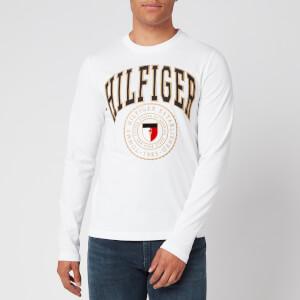 Tommy Hilfiger Men's Hilfiger Varsity Long Sleeve T-Shirt - White
