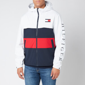 Tommy Hilfiger Men's Colourblock Hooded Jacket - White