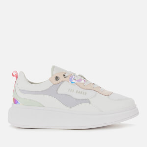 Ted Baker Women's Arellii Iridescent Chunky Trainers - White