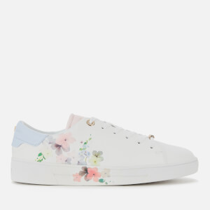 Ted Baker Women's Lennei Leather Cupsole Trainers - Ivory