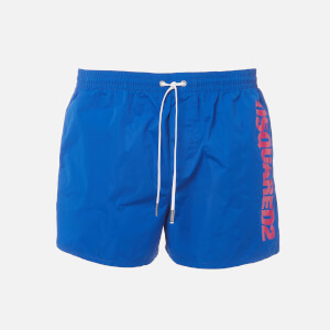 Dsquared2 Men's Vertical Logo Swim Shorts - Blue/Pink