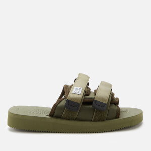 Suicoke Men's Moto-Cab Nylon Slide Sandals - Olive