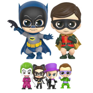 Hot Toys Batman 1966 Cosbaby Mini Figure Box Set Batman, Robin and Villains 11 cm
