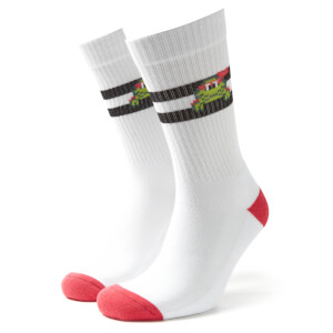 Men's TMNT Sports Socks - White