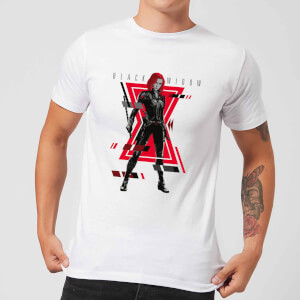 Black Widow Portrait Pose Men's T-Shirt - White