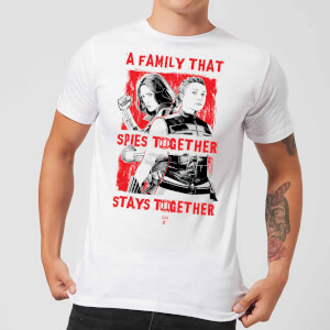 Camiseta Viuda Negra Family That Spies Together - Hombre - Blanco
