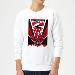 Black Widow Red Lightning Sweatshirt - White