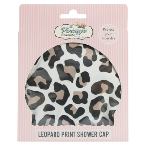 The Vintage Cosmetic Company Shower Cap Leopard Print