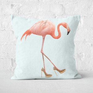 Fancy Flamingo Square Cushion