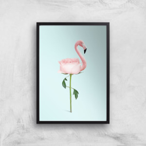 Flamingo Flower Giclee Art Print