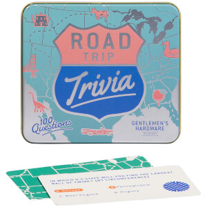 Gentlemen's Hardware Road Trip Trivia Cards