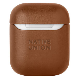 Native Union Classic Leather Airpods Case - Tan