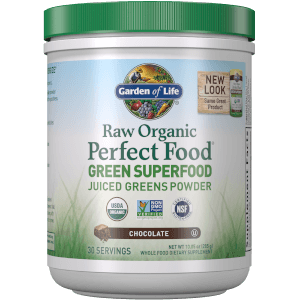 Superaliments Raw Organic Perfect Food Green - Chocolat - 285g