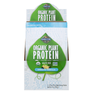 Garden of Life Organic Plant Protein Vanilla 5ct Tray