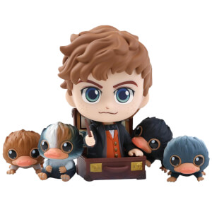 Hot Toys Fantastic Beasts: The Crimes of Grindelwald Cosbaby Newt Scamander and Baby Niffler - Size S (Set of 5)