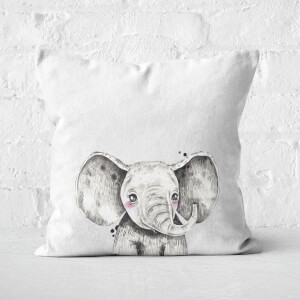 Cute Elephant Square Cushion