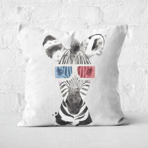 3D Zebra Square Cushion